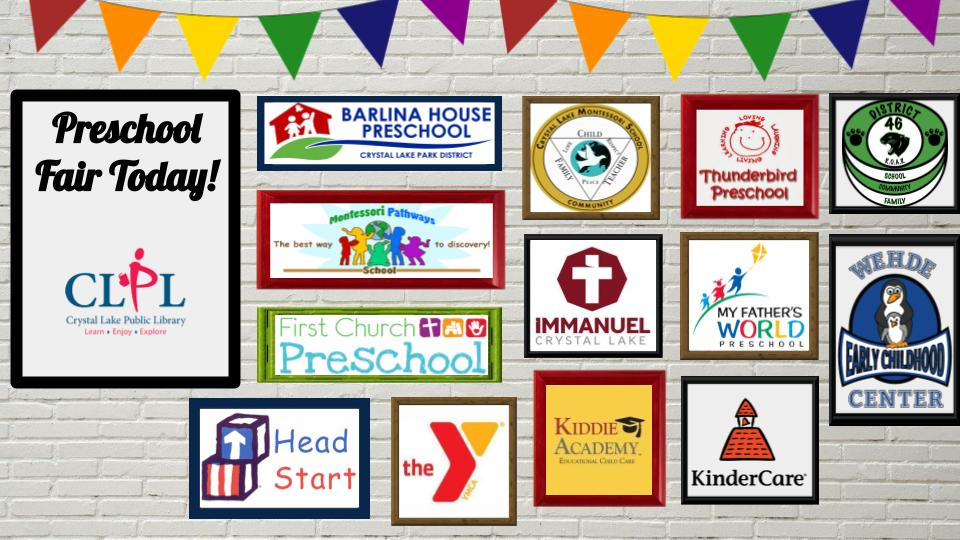 Logos from preschools involved in the preschool fair